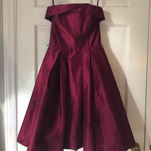 White House Black Market Burgundy SemiFormal Dress